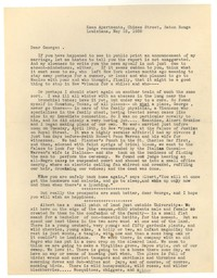 Letter from Katherine Anne Porter to George Platt Lynes, May 12, 1938