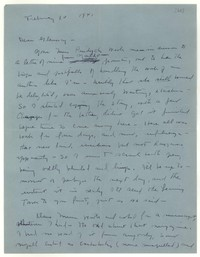 Letter from Katherine Anne Porter to Glenway Wescott, February 10, 1941