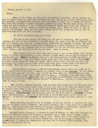 Letter from Katherine Anne Porter to Ford Maddox Ford and Janice Biala, October 09, 1933