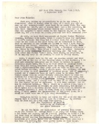 Letter from Katherine Anne Porter to John Malcolm Brinnin, September 06, 1953