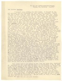 Letter from Katherine Anne Porter to Barbara Harrison Wescott, November 23, 1935