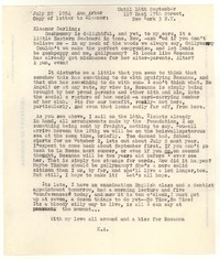 Letter from Katherine Anne Porter to Eleanor Clark Warren, July 28, 1954