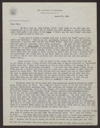Letter from Katherine Anne Porter to Paul Porter Jr., March 27, 1944