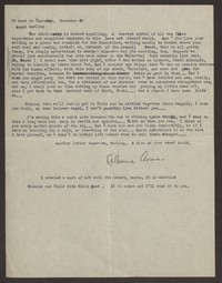 Letter from Katherine Anne Porter to Eugene Pressly, November 04, 1932