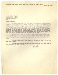 Letter from Katherine Anne Porter to Donald Elder, March 28, 1963