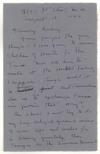 Letter from Katherine Anne Porter to Glenway Wescott, August 18, 1944