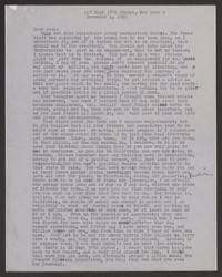 Letter from Katherine Anne Porter to Paul Porter Jr., December 01, 1952