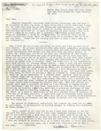 Letter from Katherine Anne Porter to Donald Elder, December 12, 1940