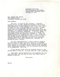 Letter from Katherine Anne Porter to Eleanor Clark Warren, February 06, 1975