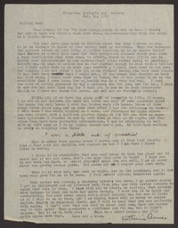 Letter from Katherine Anne Porter to Harrison B Porter, July 15, 1929