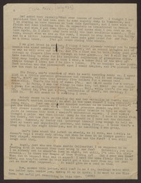 Letter from Katherine Anne Porter to Mary Alice Porter Hillendahl, circa 1937