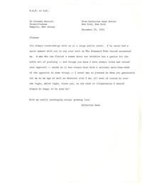 Letter from Katherine Anne Porter to Glenway Wescott, December 25, 1952