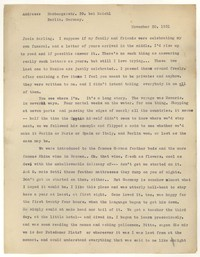 Letter from Katherine Anne Porter to Josephine Herbst, November 30, 1931