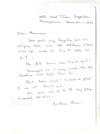 Letter from Katherine Anne Porter to Genevieve Taggard, December 01, 1936
