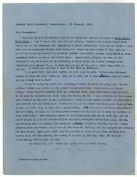 Letter from Katherine Anne Porter to Tennessee Williams, January 25, 1958