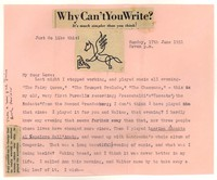 Letter from Katherine Anne Porter to William Goyen, June 17, 1951