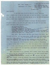 Letter from Katherine Anne Porter to Malcolm Cowley, April 19, 1967