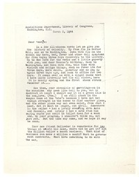 Letter from Katherine Anne Porter to George Platt Lynes, March 03, 1944