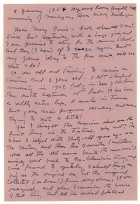 Letter from Katherine Anne Porter to Mary Louis Doherty, January 03, 1954