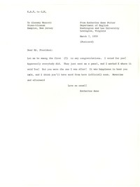 Letter from Katherine Anne Porter to Glenway Wescott, March 07, 1959