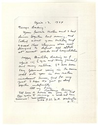 Letter from Katherine Anne Porter to George Platt Lynes, April 13, 1944