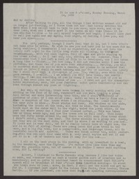 Letter from Katherine Anne Porter to Albert Erskine, March 14, 1938