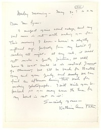 Letter from Katherine Anne Porter to George Platt Lynes, May 30, 1932