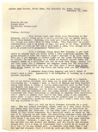 Letter from Katherine Anne Porter to Tinkum Brooks, February 19, 1963