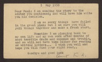 Letter from Katherine Anne Porter to Paul Porter Jr., May 05, 1950
