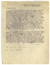 Letter from Katherine Anne Porter to Barbara Harrison Wescott, April 11, 1935