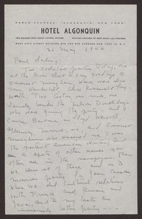 Letter from Katherine Anne Porter to Paul Porter Jr., May 21, 1946