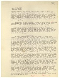 Letter from Katherine Anne Porter to Glenway Wescott, August 11, 1939