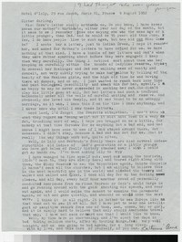 Letter from Katherine Anne Porter to Gay Porter Holloway, August 09, 1952