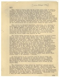 Letter from Katherine Anne Porter, Nathlie Barney, Janice Biala, and Ford Maddox Ford to 'Political Leaders, October 36