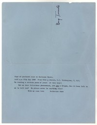 Letter from Katherine Anne Porter to Marianne Moore, May 17, 1960