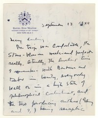 Letter from Katherine Anne Porter to Mary Louis Doherty, September 13, 1944