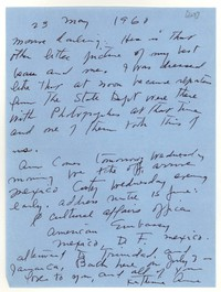 Letter from Katherine Anne Porter to Monroe Wheeler, May 23, 1960