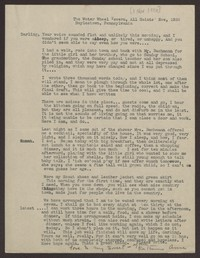 Letter from Katherine Anne Porter to Eugene Pressly, November 01, 1936