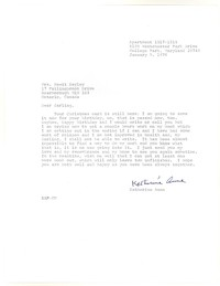Letter from Katherine Anne Porter to Isabel Bayley, January 09, 1976