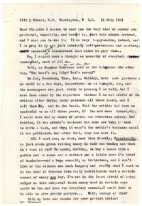 Letter from Katherine Anne Porter to Cleanth Brooks, July 18, 1961