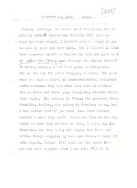 Letter from Katherine Anne Porter to Glenway Wescott, December 23, 1944