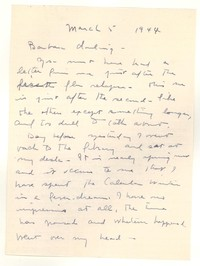 Letter from Katherine Anne Porter to Barbara Harrison Wescott, March 05, 1944