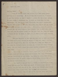 Letter from Katherine Anne Porter to Mary Alice Porter Hillendahl, April 17, 1928