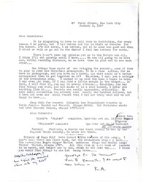 Letter from Katherine Anne Porter to Genevieve Taggard, January 05, 1937