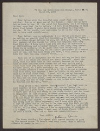 Letter from Katherine Anne Porter to Harrison B Porter, March 30, 1935