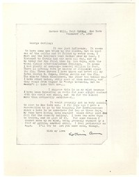 Letter from Katherine Anne Porter to George Platt Lynes, December 27, 1943