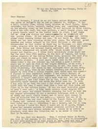 Letter from Katherine Anne Porter to Monroe Wheeler, March 23, 1935