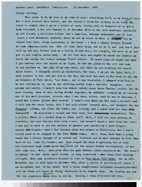 Letter from Katherine Anne Porter to Gay Porter Holloway, November 21, 1957