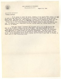 Letter from Katherine Anne Porter to Barbara Harrison Wescott, August 10, 1944