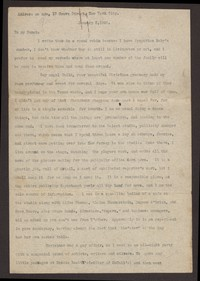 Letter from Katherine Anne Porter to Family, January 03, 1920